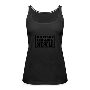 Military Grade Muscle Black - Women's Premium Tank Top