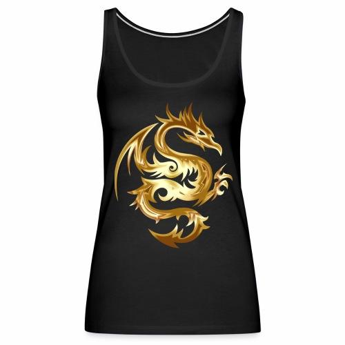 Abstract golden dragon - Women's Premium Tank Top