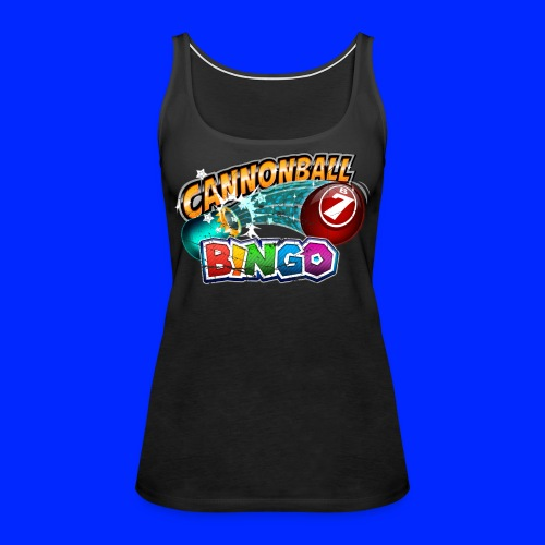 Vintage Cannonball Bingo Logo - Women's Premium Tank Top
