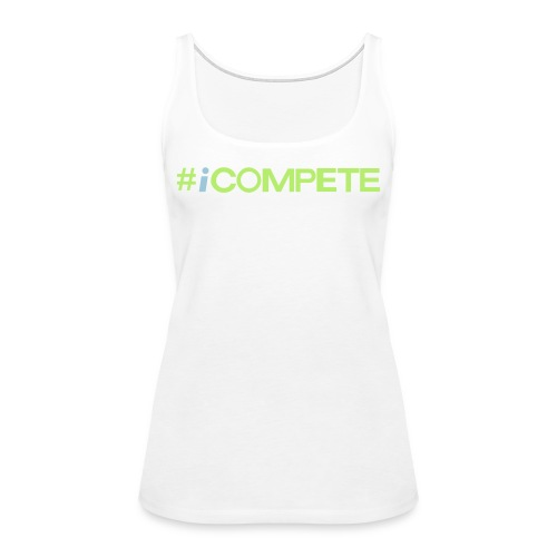 icompete_logo_final_outli - Women's Premium Tank Top