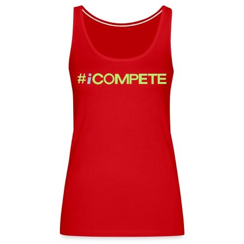 icompete_logo_final_outli - Women's Premium Tank Top