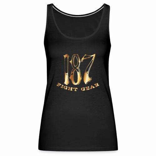 187 Fight Gear Gold Logo Sports Gear - Women's Premium Tank Top
