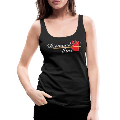 Diemond Star Logo White Font - Women's Premium Tank Top