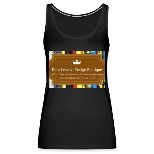 Debs Creative Design Boutique with site - Women's Premium Tank Top