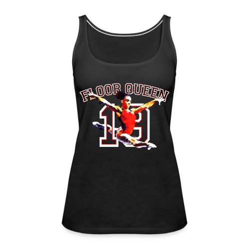 Floor Queen - Black Football Jersey - Women's Premium Tank Top