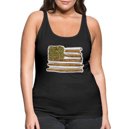 American Flag With Joint - Women's Premium Tank Top