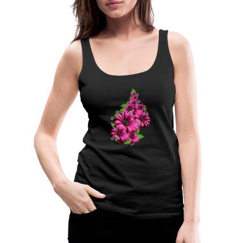 Pink Daisy Flowers - Women's Premium Tank Top