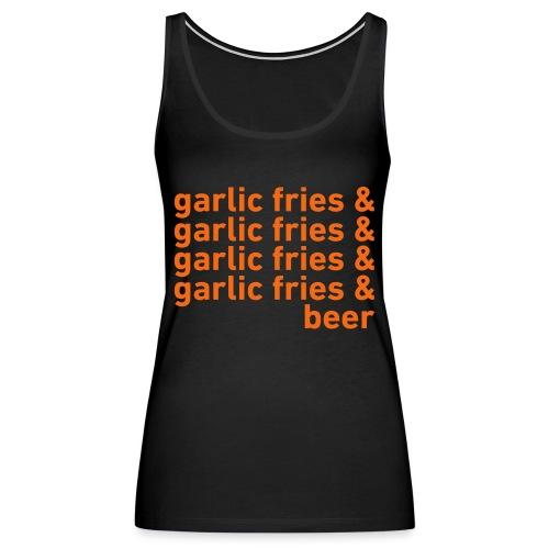 Garlic Fries & Beer (SF Giants) - Women's Premium Tank Top