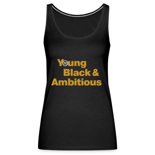 YBA Black and Gold Shirt2 - Women's Premium Tank Top