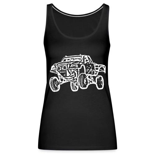 Jump Truck White - Women's Premium Tank Top
