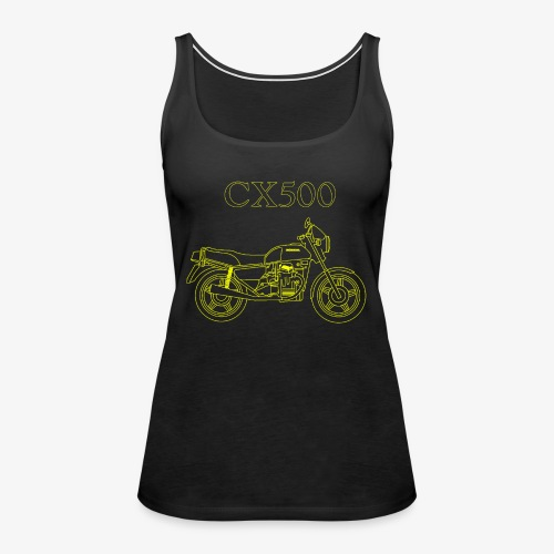 CX500 line drawing - Women's Premium Tank Top
