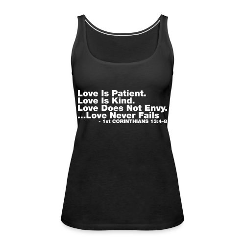 Love Bible Verse - Women's Premium Tank Top