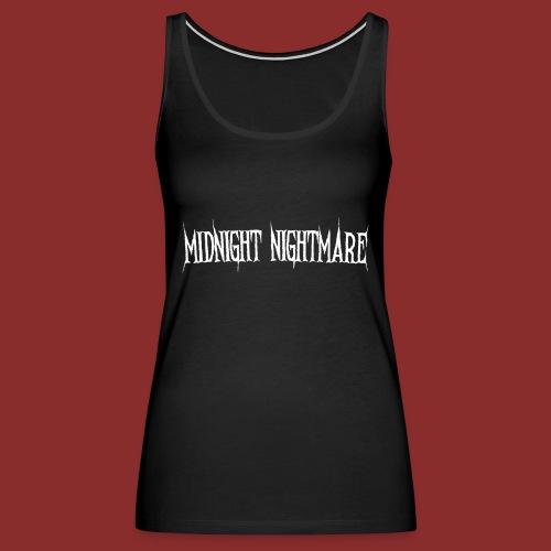 Midnight Nightmare Logo-w - Women's Premium Tank Top