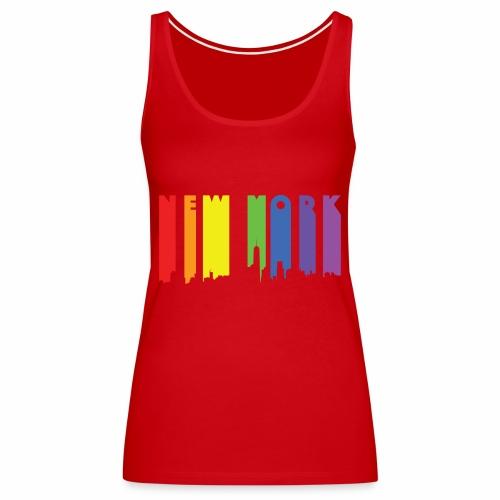 New York design Rainbow - Women's Premium Tank Top