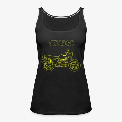 CX500 line drawing - Women's Premium Tank Top