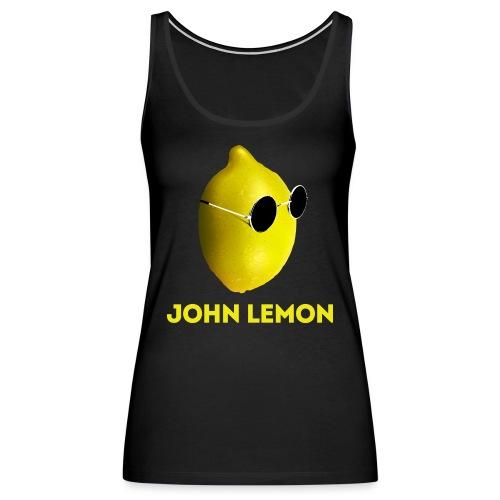 JohnLemon Print1 png - Women's Premium Tank Top