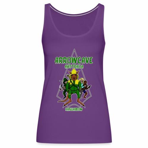 Arrow Cave Logo - Light - Women's Premium Tank Top