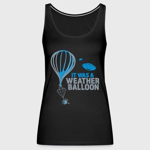 Weather Balloon UFO - Women's Premium Tank Top