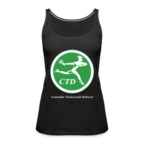 Cannabis Transworld Delivery - Green-White - Women's Premium Tank Top
