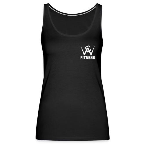 white logo transparent png - Women's Premium Tank Top