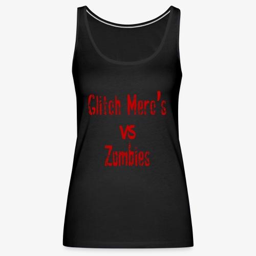 glitch zombie red - Women's Premium Tank Top