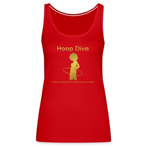 Hoop Diva - Gold - Women's Premium Tank Top
