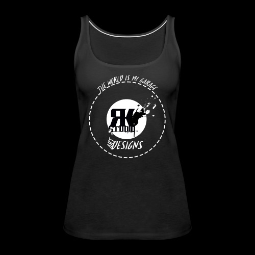 The World is My Garage - Women's Premium Tank Top