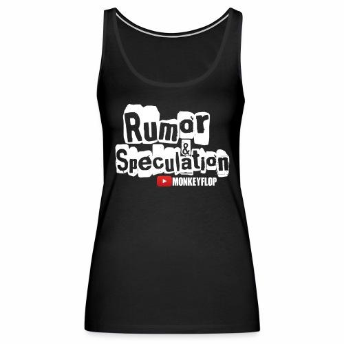 specutlation white png - Women's Premium Tank Top