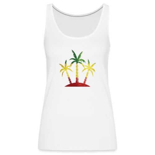 Palm Tree Reggae - Women's Premium Tank Top