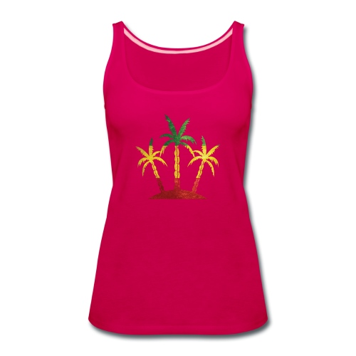 Palm Tree Reggae - Women's Premium Tank Top