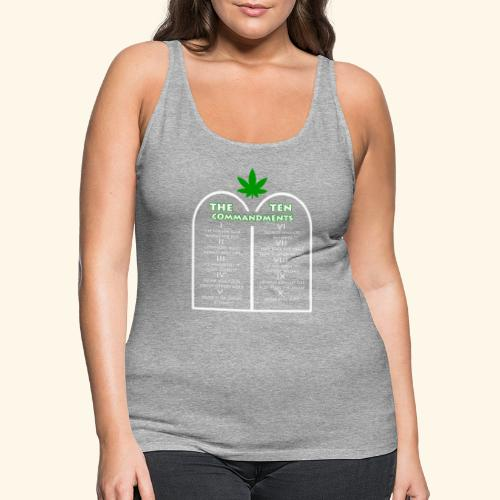 The Ten Commandments of cannabis - Women's Premium Tank Top