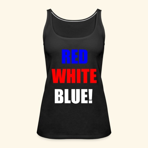 red white blue OCD - Women's Premium Tank Top