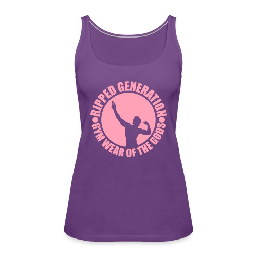Ripped Generation Gym Wear of the Gods Badge Logo - Women's Premium Tank Top