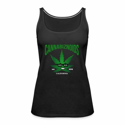 Cannabiznoids Logo with Text - Women's Premium Tank Top