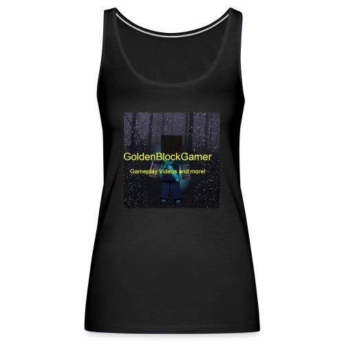 GoldenBlockGamer Tshirt - Women's Premium Tank Top