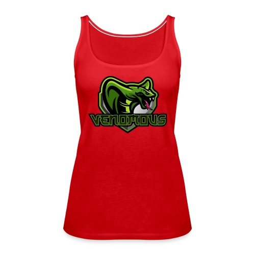 Venomous Text Logo - Women's Premium Tank Top