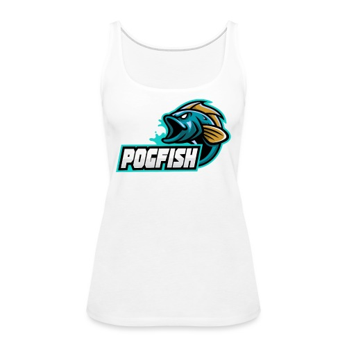 PogFish Text Logo - Women's Premium Tank Top