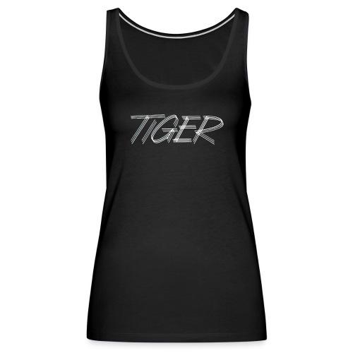 tiger script logo png - Women's Premium Tank Top