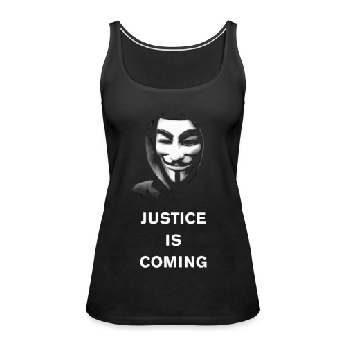 justice is coming large gif - Women's Premium Tank Top
