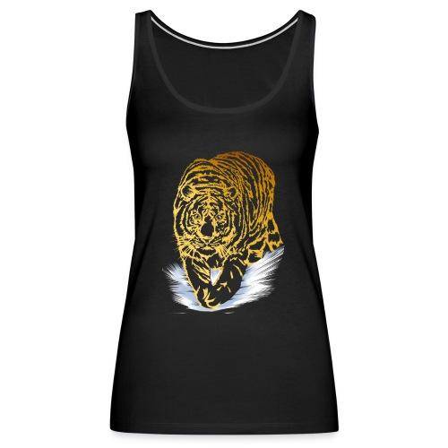 Golden Snow Tiger - Women's Premium Tank Top
