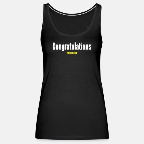 Congratulations you can read