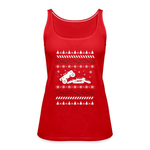 Ugly Christmas Monster - Women's Premium Tank Top