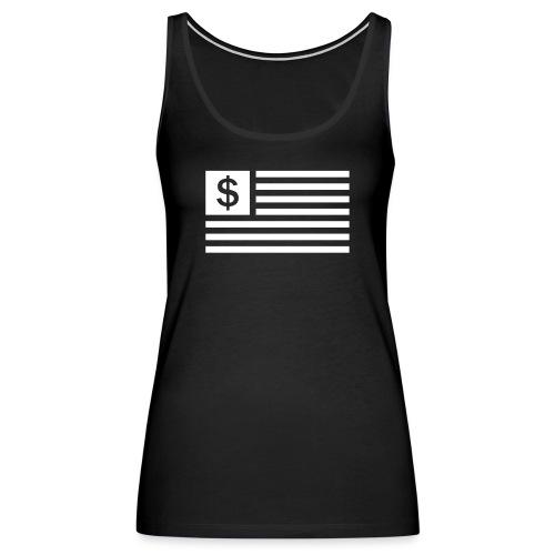 American Dollar Sign Flag - Women's Premium Tank Top