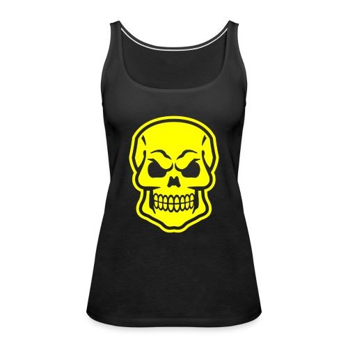 Skull vector yellow - Women's Premium Tank Top