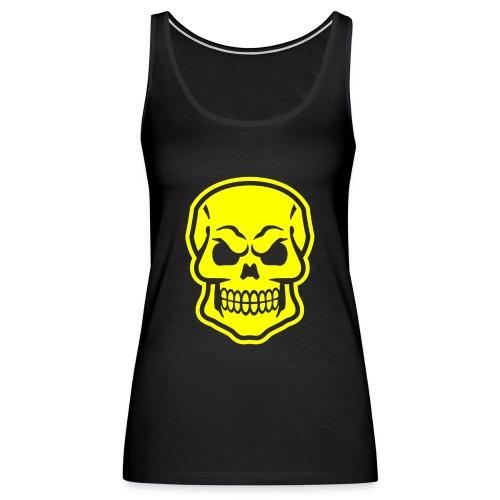Skull vector yellow - Women's Premium Tank Top