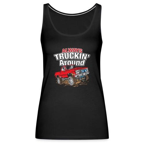 Chevy Truckin Around Red - Women's Premium Tank Top