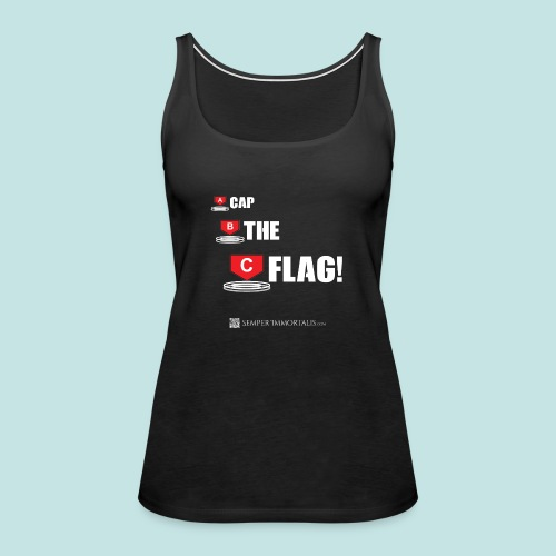 CAP THE FLAG (white) - Women's Premium Tank Top