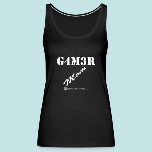 Gamer Mom (white) - Women's Premium Tank Top