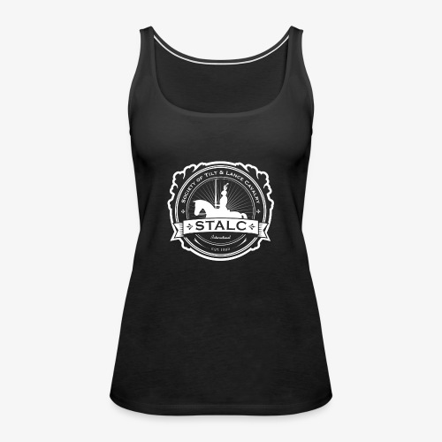 STALC Logo White only - Women's Premium Tank Top