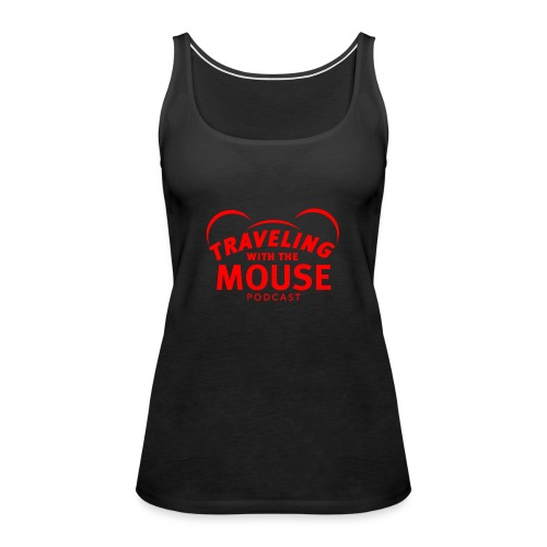TravelingWithTheMouse logo transparent RED - Women's Premium Tank Top